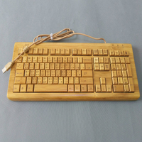 New designed natural wired bamboo keyboard