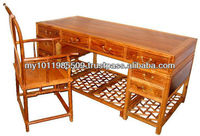 Huanghuali wood Writing Table with one Arm Chair