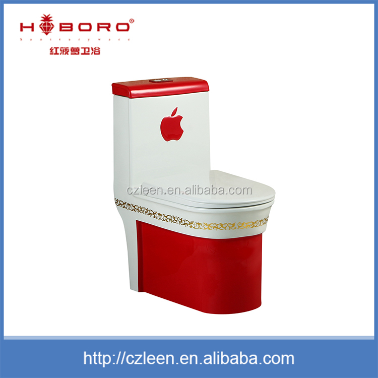 Hot sale floor mounted red and white ceramic jet flush cheap toilets