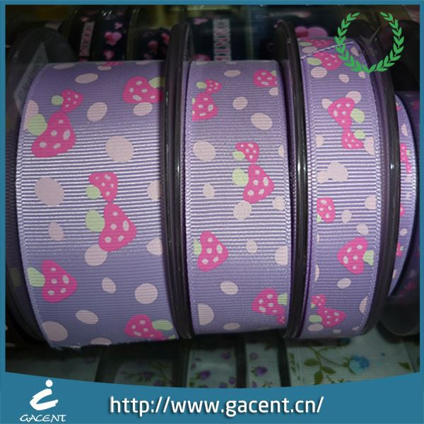 100% Polyester Wholesale 3 Inch Grosgrain Printed Ribbon