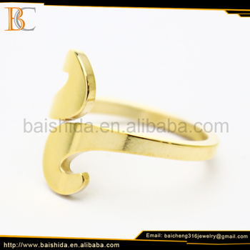 new design ladies gold finger ring best stainless steel jewelry