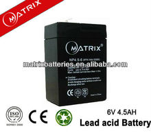 maintenance free camping lantern battery 6V 4.5AH