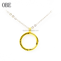 OBE New arrival Fashion Design Necklace Jewelry Gold Simple accessories for women necklace