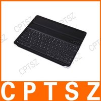 Wireless Bluetooth Keyboard Aluminum Case For iPad 2 Black