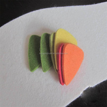 Felt ukulele picks, green paddles