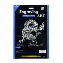 Good Lucky Dragon Foil Paper Art Engraving Sets