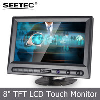 Hot sale in USA 2015 bus display high quality OEM ODM touch 8 inch lcd monitor with remote control