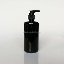 200ml black ultraviolet liquid soap glass bottle with lotion pump/lotion sprayer