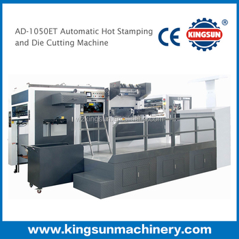 China best high Quality automatic hot foil stamping and die-cutting machine