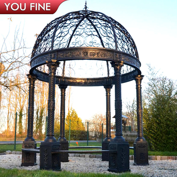 Decorative Garden Cast Iron Gazebo
