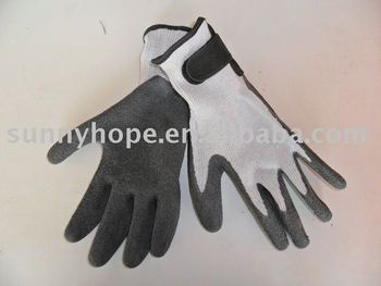T/C seamless knitted liner with magic cheap latex gloves