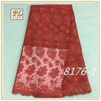 2015 New Design Top Sale nice price embroidered red net lace fabric for wedding dress