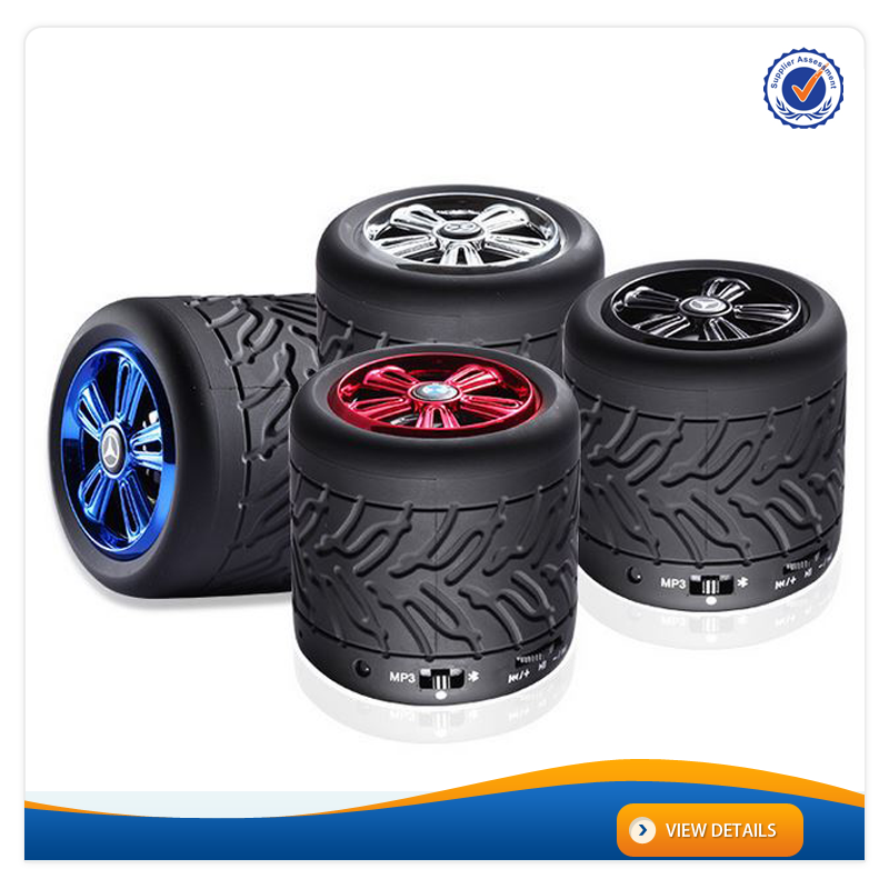 AWS1090 New Tyre Shape Portable Wireless Small Bluetooth Speaker High Quality