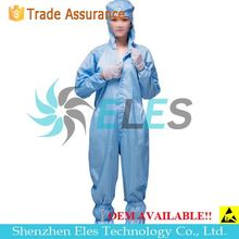 Autoclavable Cleanroom Class 1000 ESD Anti-Static Coverall