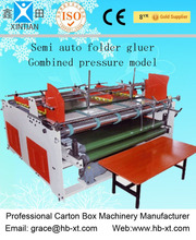 SMALL CARTON / CORRUGATED BOX SEMI AUTO FOLDER GLUER ( COMBINED PRESSURE MODEL)