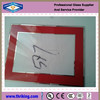 Red border 5x7 clear photo frame glass