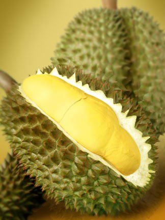 Frozen whole durian