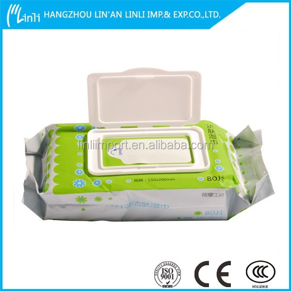Material for wet wipe used baby cleaning body very softly