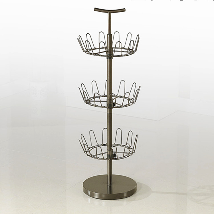 3 tier shoe rack 360 degree rotating metal shoe tree rack