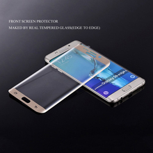 3D curved full cover phone lcd tempered glass screen protector for samsung galaxy s6 edge