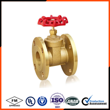 "3/4"" brass gate valve for water pn16 flange connection"
