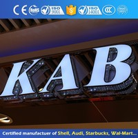 Illuminated Sign Plastic Embossing Acrylic Letter 3D Shop Signboard