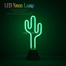 China wholesale Christmas tree home party for kids room decorative lamp plastic cactus sign led neon light