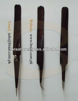 High Quality Tweezer Black Color Coating Tweezers Stainless Steel Fine Point Tip Tweezers Eyelash Extension Tweezers