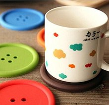 Factory custom Round Silicone Coasters Cute Button Coasters Cup Mat