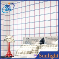 pure fresh square non-woven wallpapers bedroom decor modern house design