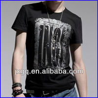 2014 custom led t shirt wholesale scoop neck t shirt for men brand fashion t-shirt