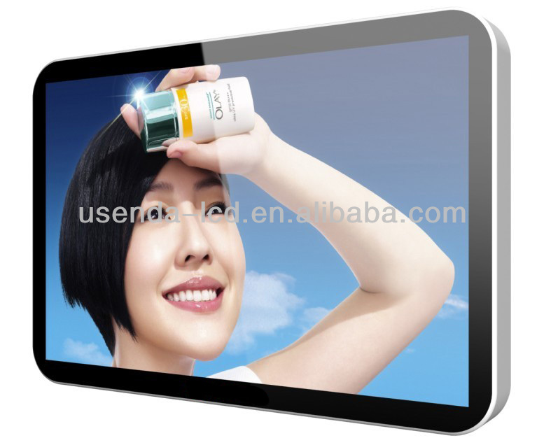 32 inch wall mounted network WIFI 3G LCD/LED advertising player