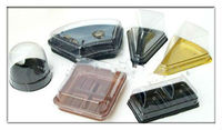 Cake plastic packaging tray