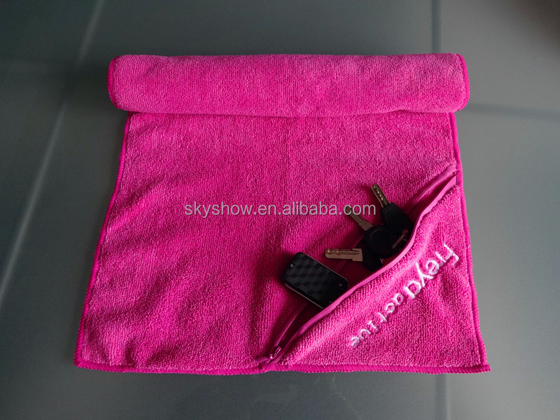 custom embroidery 80 polyester 20 polyamide microfiber gym towel