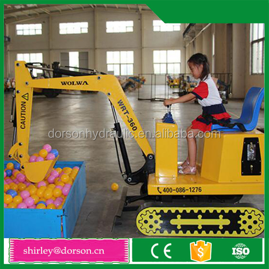 New design amusement park kid mini excavator for sale