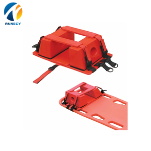 AC-FA006 first aid products universal xray ct scan mri military head blocks red head neck immobilizer