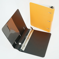 New design office stationery metal pp A4 3 ring binder folder lever arch file
