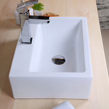 High quality 335*290*120mm white ceramics sink bathroom corner cabinet