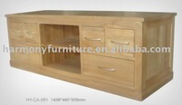 Rizhao Harmony solid oak multi-function large TV stand