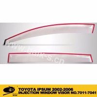 INJECTION DOOR VISOR FOR TOYOTA IPSUM 2002-2006 Window Vent Visor Deflector Rain Guard (Dark Smoke) 4-pc Set