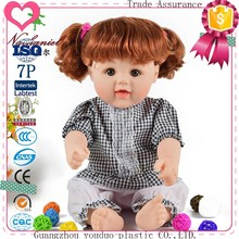 Accept custom doll manufacturer soft PVC baby dolls with wig