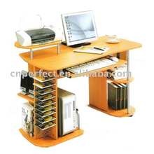 Modern Design PVC Office Computer Table A-104 MDF & Metal Pipe