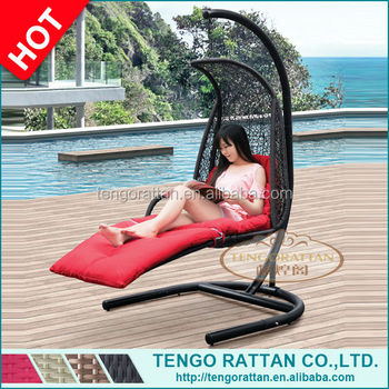 Special Outdoor Garden Swing Hanging Chair Outdoor Rattan Swing Chair With Cushion(Y9107KD)