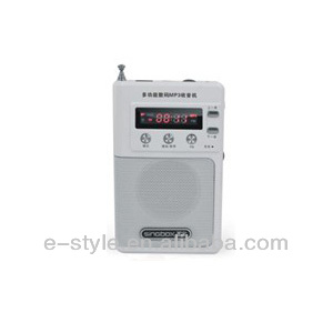 Pocket receiver,mini speaker with FM radio with TF card