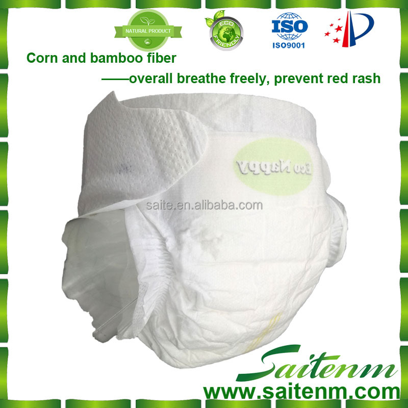 2016 New material eco-friendly disposable baby diaper biodegradable