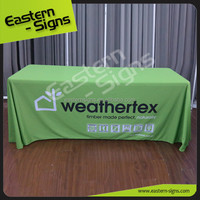 Flame Retardant Low Price Wholesale Custom Exhibition Tablecloth Used