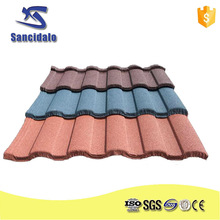 high quality colorful stone coated steel roof tile have passed CE certificate/constructional material