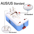BENWIS Universal Travel Mobile Phone Charger AC/DC Power Adapter Dual USB Port Wall Charger US EU AU UK Plug with intelligent IC