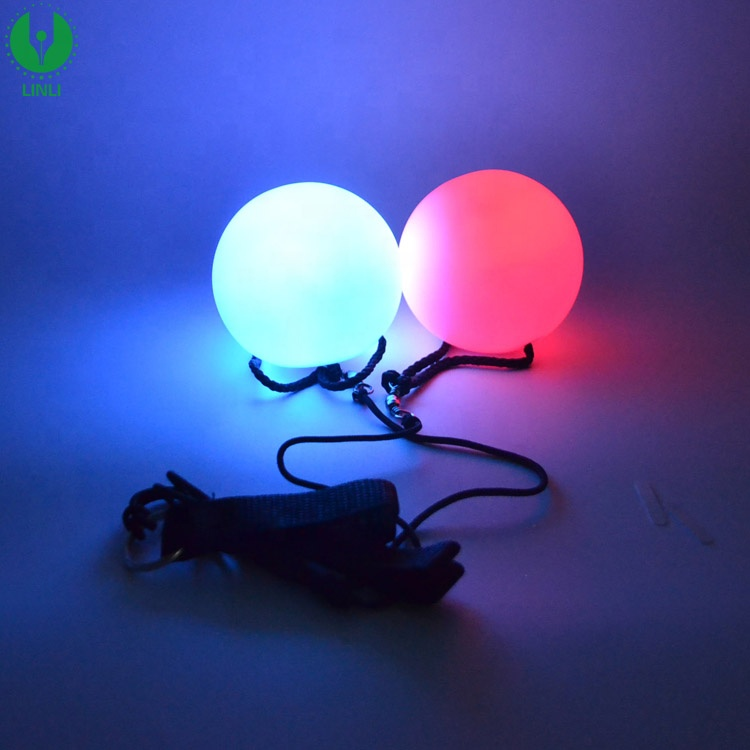 Ready to ship 2019 Wholesale High Quality Vinyl Material Led Light up Glow Children Toys Poi <strong>Ball</strong>