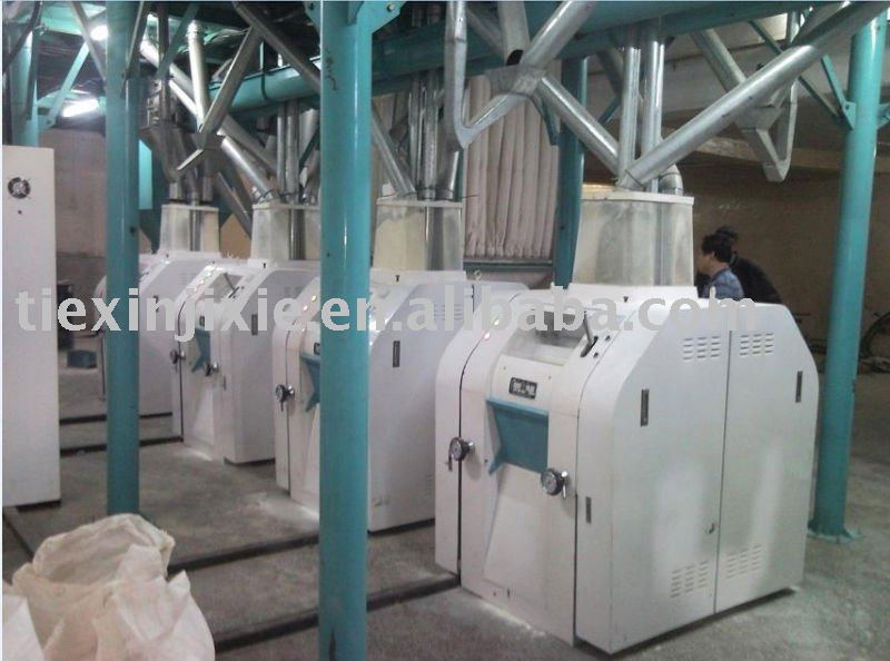 white wheat flour/meal/grits processing line